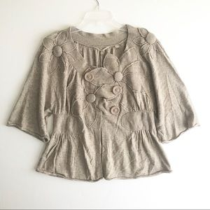 Knitted and Knotted Flower Thicket Sweater Med
